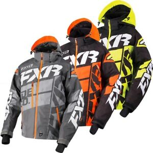 FXR Men's Boost X Jacket Removable Liner - Gray Orange Hi-Vis - 180029-____-1_