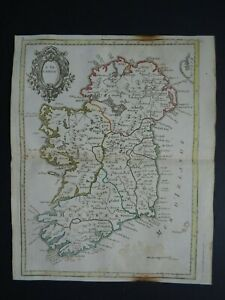1780 CREPY atlas map  IRELAND - L'IRLANDE