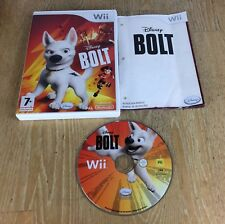 Nintendo Wii Disney Bolt Game, Case & Booklet FREE P+P