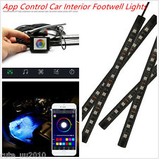 4x9 LED Car Interior Footwell Atmosphere Phone App Control Smart Music RGB Light