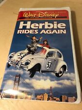 RARE-Herbie Rides Again (VHS) WHITE CLAMSHELL --HELEN HAYES & KEN BERRY