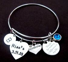 Godmother Bracelet Godmother Gift Christening Baptism Confirmation Bonus Mom gif