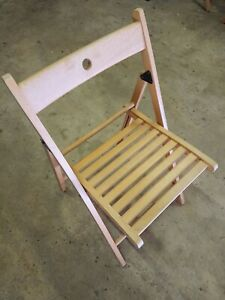 Foldable Wooden IKEA Desk Chair, Dining Chair, Bedroom Chair