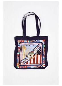 Polo Ralph Lauren: Canvas Chariots Shopper Tote{Flag Multi}{One Size}