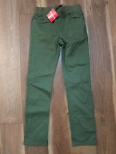 Hanna Andersson Boy's Green Khaki Cotton Twill Kickstart Pants Sz 12 150 NWT