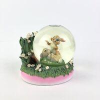 Bambi Miss Bunny & Thumper Disney Store Snow Globe 2005 (RARE) Vintage *READ*