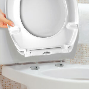 Luxury White Quick Release Soft Close Toilet Seat Top Fix Easy Clean Bathroom WC