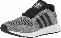 adidas Originals Unisex-Child Swift Running Shoe, White/Black/Black, Size  1GtM