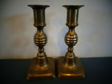ANTIQUE BRASS CANDLESTICK PUSH UP CANDLE HOLDER