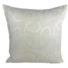 "Nylon Cream Cushion Covers / Abstract Print - 17 x 17"" / 43 x 43 cm"