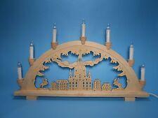 Schwibbogen Lichterbogen aus Holz Dresden Frauenkirche erzgebirgische Tradition