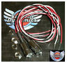 Universal License Plate LED Bolts (x2) Red & White * Harley + others TB03C New
