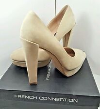 NWB French Connection Nambia Women's Shoes Heels Size US-8.5-9 M EU-39M Nude