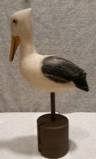 New ListingHand Carved Wood Pelican Bird Figurine