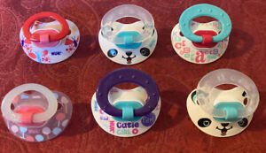 ❤️NUK PACIFIER LOT OF 6!  SUPER CUTE GREAT PRE OWNED CONDITION!