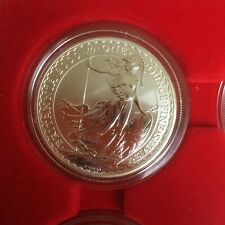 GB 2000 £2 BRITANNIA PROOF ONE OUNCE SILVER BEAUTIFUL COIN MINT CONDITION