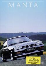 Opel Manta Prospekt 1987 9/87 Autoprospekt Broschüre brochure prospectus catalog