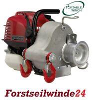 Forstseilwinde, Spillwinde-Seilwinde PCW 3000 Benzinwinde,Motorwinde + 100m Seil