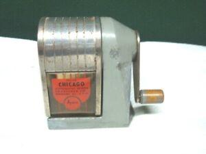 Vintage Apsco Deluxe Chicago Pencil Sharpener