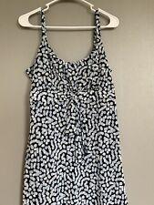 Believe.. Womens Dress 12 Size Polyester Sleeveless Flare Polka Dots Blue
