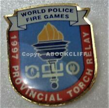1997 WPFG WORLD POLICE & FIRE GAMES TORCH RELAY CALGARY AB CANADA Pin