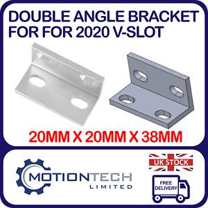 Double Universal Angle Bracket 2020 V-Slot Aluminium Profile for CNC 3D Printers