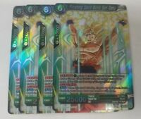 R BT3-034 Dragon Ball Super Cross W BT3-034 x4 Ultimate Spirit Bomb Son Goku