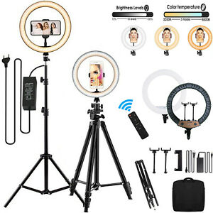 """18"""" LED Ring Light Stand Dimmable for Youtube Tiktok Makeup Video Phone Selfie"""