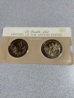 THE FRANKLIN MINT HISTORY OF THE UNITED STATES SOLID BRONZE MEDALS 1946 - 1947