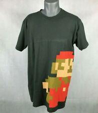 Official Club Nintendo Exclusive T Shirt Retro 8 Bit Mario Dark Gray Size Large