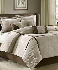 Madison Park Dallas 7-Pc. Corduroy Faux Suede Comforter Set - KING - Taupe