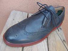 RALPH LAUREN Mens Dress Shoes Blue Gray Casual Lace Up Wingtip Oxfords Size 12D