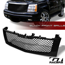 GLOSSY BLK MESH FRONT HOOD BUMPER GRILL GRILLE GUARD 2002-2006 CADILLAC ESCALADE