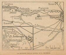 D1150 Regione della Sagra di San Michele - Carta geografica - 1925 old map