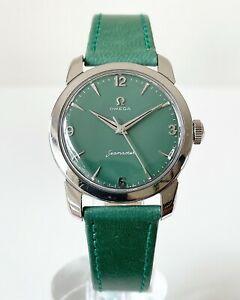 1956 OMEGA SEAMASTER GREEN PART ARABIC NUMERAL DIAL CAL. 420 REF. 797