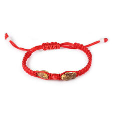 Feng Shui Red String Lucky Wooden Twin Fish Charm Bracelet for Good Luck Child