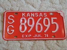 ANTIQUE 1971 KANSAS LICENSE TAG/PLATE - #89695