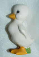 Ceramic Duck Figurine 5 Inch Cream White Duckling Standing Vintage Home Decor
