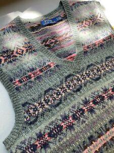 Polo Ralph Lauren Wool Fair Isle Vest Size Small Mens