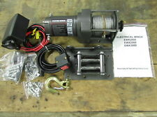 NEW 2,000LB ELECTRIC WINCH KIT ATV SXS RAZR POLARIS KAWASAKI YAMAHA HONDA SUZUKI
