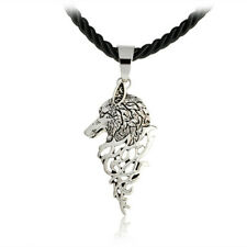 Handmade Puck Black Men Necklace Freki Wolf Of Odin Viking Scandinavian Jewelry