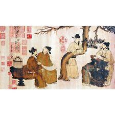"""Chinesisches Rollbild """"Die Gelehrten"""", Brokat Seidenbild Seidenstickerei China"""