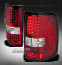04-08 FORD F-150 PICKUP TRUCK STYLESIDE LED TAIL BRAKE LIGHTS RED/CLEAR XLT XTR