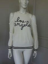 Forever 21 open shoulder white light long sleeve sweater sz M NWT