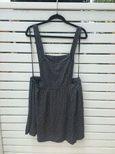 City Chic - Black and White Spot Pinafore - S (Size 16) - BNWT