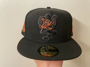 """""""BLACKOUT"""" COKED OUT TIGERS 7 1/2 NEW ERA ORANGE UV (NOT HAT CLUB, myfitteds)"""
