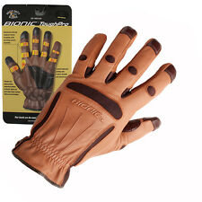 1 Pair Bionic Tough Pro All Purpose Garden Gloves. High Quality Leather comfort