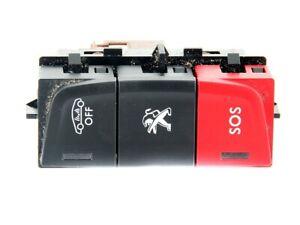 Bloc Commutateur Multifonction Bouton d'Alarme SOS Peugeot 508 10- 96770618ZD