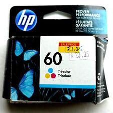Genuine HP 60 Tri-Color Ink Cartridge (CC643WN) Brand New April 2016 Expiration