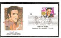 US Scott # 2721 Elvis Presley FDC. Fleetwood Cachet. 5